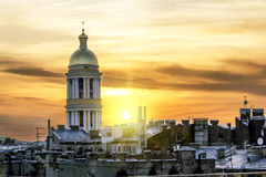 The view from the roof of St. Vladimir's Cathedral and the rooft Royalty Free Stock Images