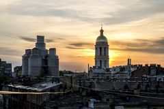 The view from the roof of St. Vladimir's Cathedral and the rooft Stock Photo