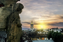 The view from the roof of St. Vladimir's Cathedral and the rooft Royalty Free Stock Photo