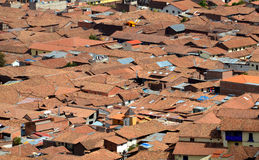 View of Roof Tops of Shanty Town in Cuzco Stock Images