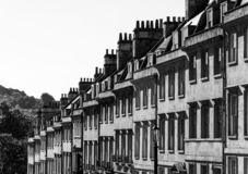 View of the roofline along Milsom Street south west side, Bath, England royalty free stock photos