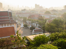 View on the roofs of Bangkok, Thailand Stock Photo