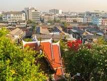 View on the roofs of Bangkok, Thailand Royalty Free Stock Photos