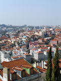 View on the roofs of the center of Lisbon city Royalty Free Stock Photo