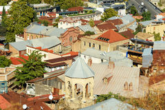 View of roofs and churh of Old city Tbilisi, Georgia Stock Photos