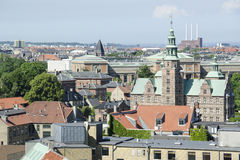 View on the Roofs of Copenhagen, Denmark Royalty Free Stock Photos