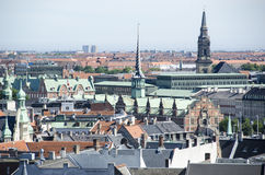 View on the Roofs of Copenhagen, Denmark Royalty Free Stock Images