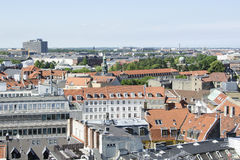 View on the Roofs of Copenhagen, Denmark Stock Image