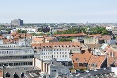 View on the Roofs of Copenhagen, Denmark Stock Image