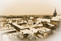 View on roofs of hauses in Petrovaradin of Novi Sad Royalty Free Stock Image