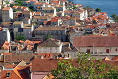 View of the roofs of Hvar Royalty Free Stock Image