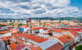 View on roofs in Kosice from St. Elisabeth cathedral Stock Image