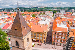 View on roofs in Kosice from St. Elisabeth cathedral Royalty Free Stock Images