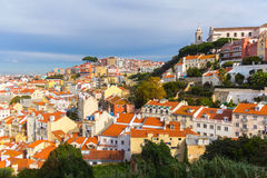View of roofs in Lisbon, Portugal Stock Images