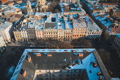 View on roofs of old city Stock Images