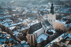 View on roofs of old city Royalty Free Stock Image
