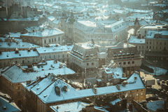 View on roofs of old city Royalty Free Stock Photos