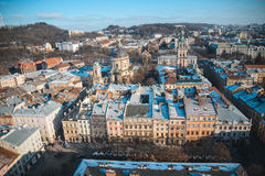 View on roofs of old city Stock Photo