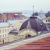 View of the roofs of the old European city Royalty Free Stock Image