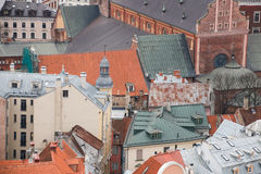 View on the roofs of old houses, Riga, Latvia Stock Image