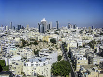 View on roofs of old Tel-Aviv (Israel) on the modern buildings b Stock Photo