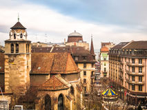 View of roofs of the Old Town, Geneva, Switzerland Royalty Free Stock Photography