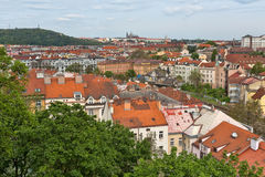 View of the roofs of Prague Stock Images
