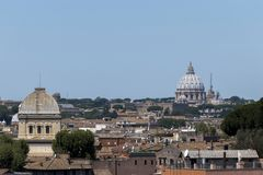 View of roofs of Rome Stock Images