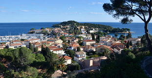 View on roofs of Saint Jean Cap Ferrat buildings, France Royalty Free Stock Photography