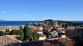 View on roofs of Saint Jean Cap Ferrat buildings, France Royalty Free Stock Images