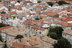 View on the roofs of Senj Stock Images