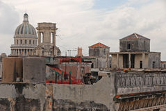 View of Rooftop buildings in Havana, Cuba Stock Images