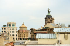 View from the rooftop of the house Casa Batllo Royalty Free Stock Images