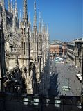 View from the rooftop of Milan cathedral. View from the rooftop of the Milan cathedral, Italy Stock Image