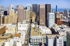 View from the rooftop to the city of San Francisco Royalty Free Stock Photos