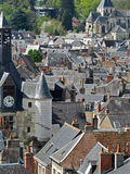 View of Rooftops in Amboise France Royalty Free Stock Photography