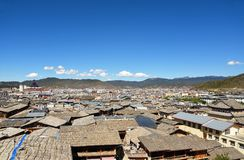 View of the rooftops in Shangri La Royalty Free Stock Image