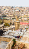 View of the rooftops of the Fez medina. Fez, Morocco. Royalty Free Stock Photo