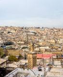 View of the rooftops of the Fez medina. Fez, Morocco. Royalty Free Stock Image
