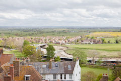 View of the rooftops of the historic Cinque Port town of Rye Stock Photos