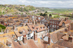View of the rooftops of the historic Cinque Port town of Rye Royalty Free Stock Photography