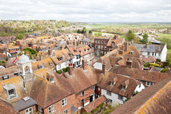 View of the rooftops of the historic Cinque Port town of Rye Royalty Free Stock Photos