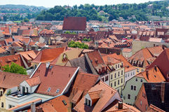 View of the rooftops of Meißen Stock Photo