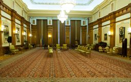 View of a room of the Romanian Palace of the Parliament. One the largest administrative building in the world Royalty Free Stock Images