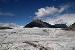 View on the Root Glacier, Alaska Stock Photo