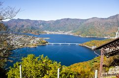 View the ropeway kawaguchiko Royalty Free Stock Photography
