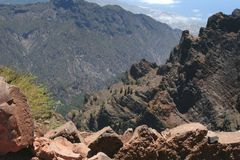 View from Roque de Los Muchachos, La Palma, Spain Stock Photography