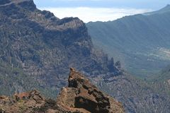 View from Roque de Los Muchachos, La Palma, Spain Stock Image