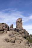 View on Roque Nublo on gran canaria Stock Images