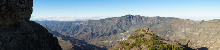 A view from Roque Nublo Royalty Free Stock Images